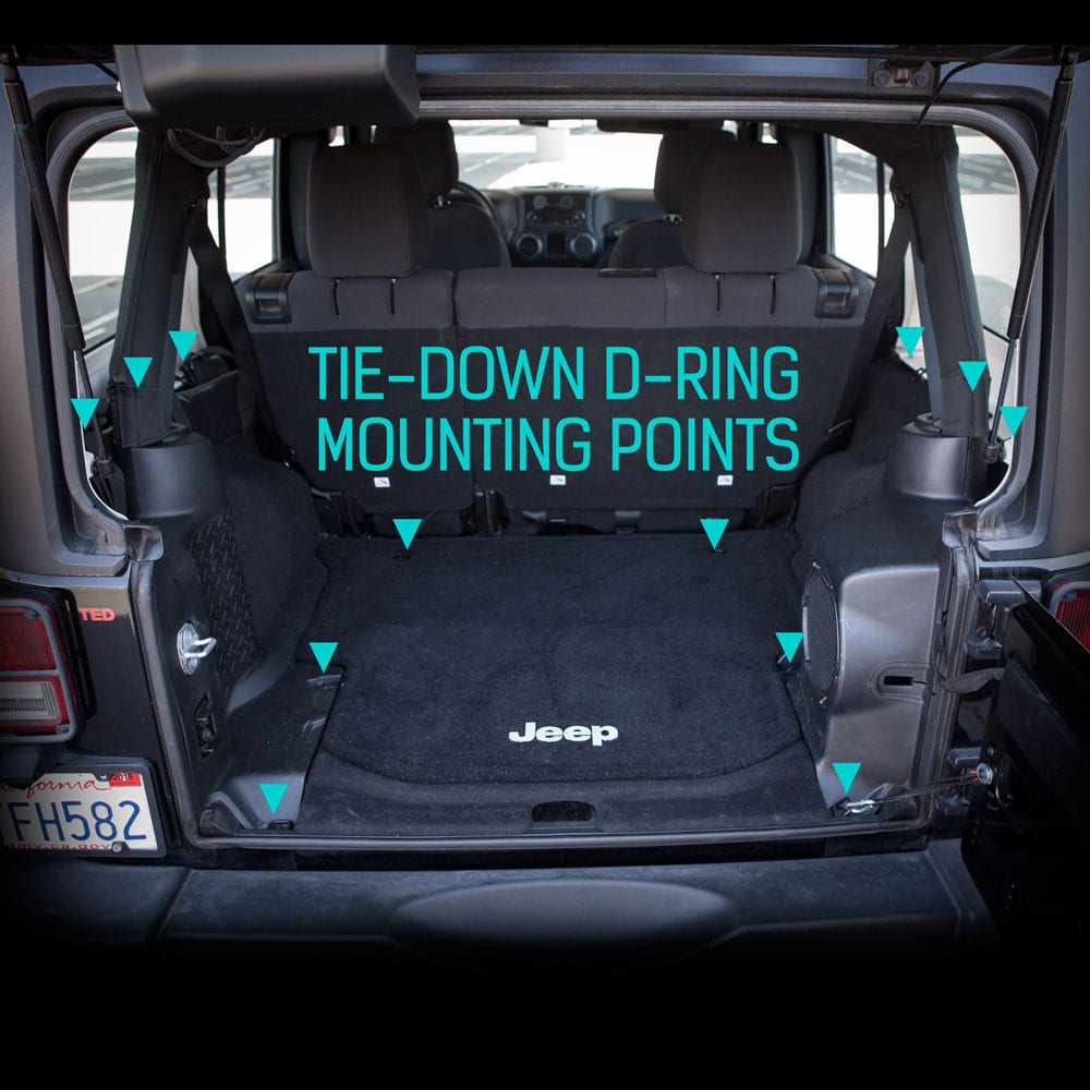 Gpca Jeep Wrangler Cargo Area Freedom Pack 4dr Cargo Cover With 3
