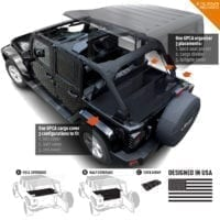 GPCA Jeep Wrangler cargo cover 4DR freedom pack