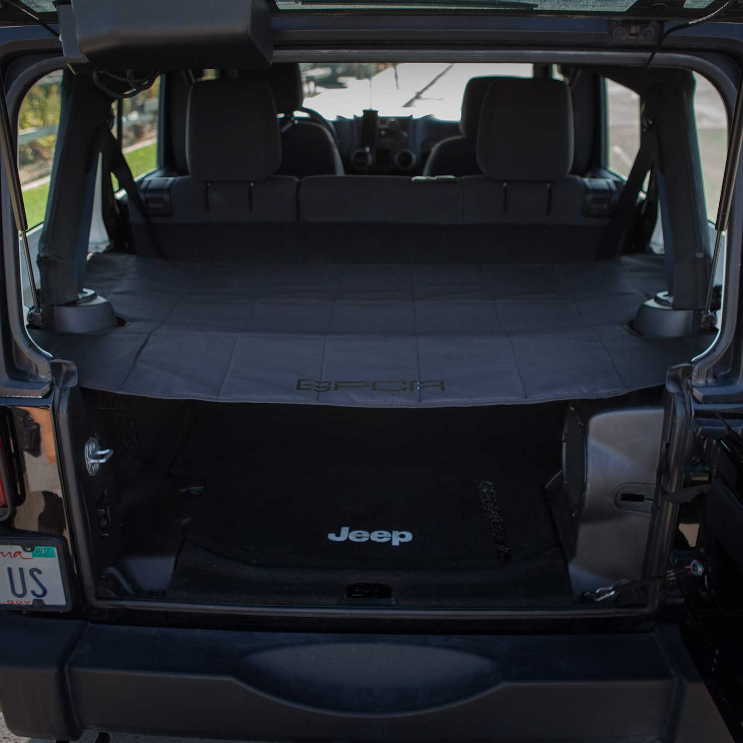 Gpca Jeep Wrangler Cargo Cover Pro Covers Stuff With Top
