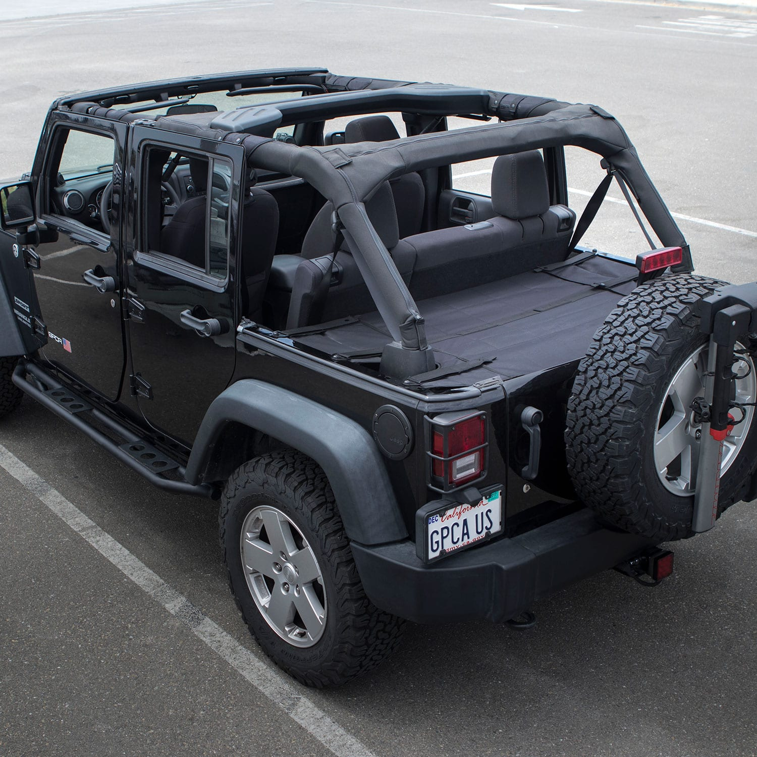 Gpca Jeep Wrangler Cargo Cover Pro Covers Stuff With Top On Or Topless