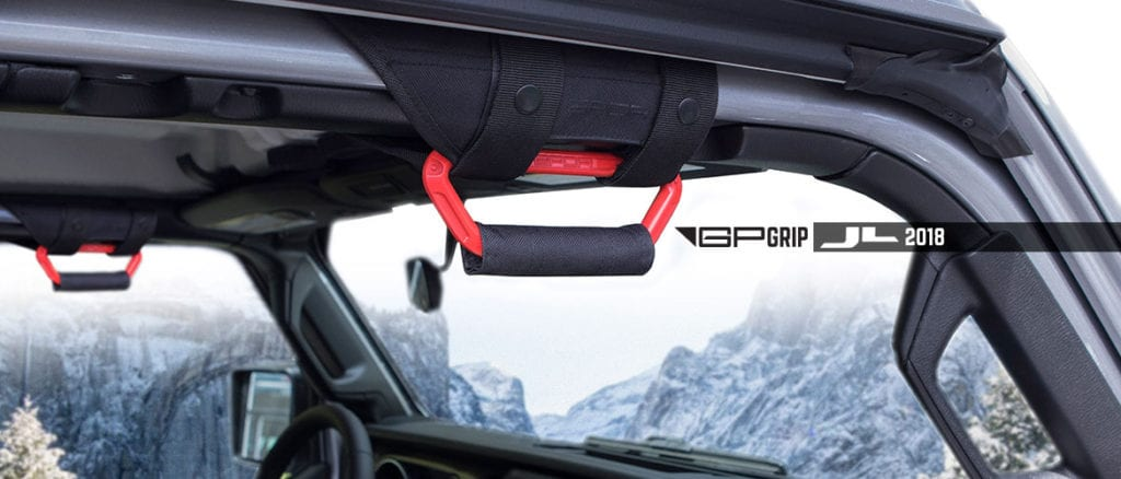 GP-Grip Jeep Wrangler grab handle red color